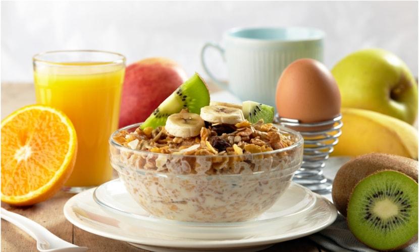 No te olvides del desayuno
