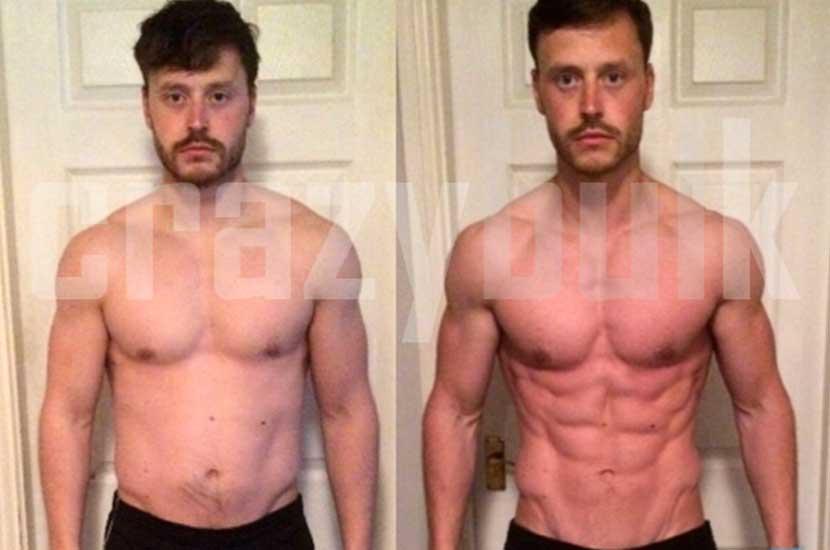 Antes y después con Crazy Bulk
