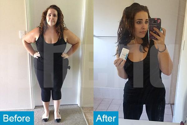 Taylah perdió 20 kilos con la ayuda de PhenQ