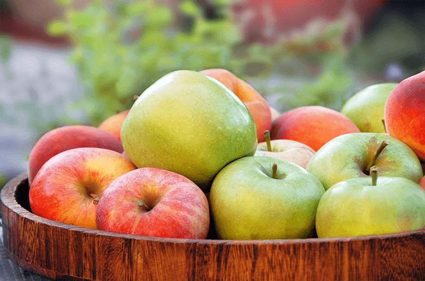 Las manzanas son una excelente fuente de fibra