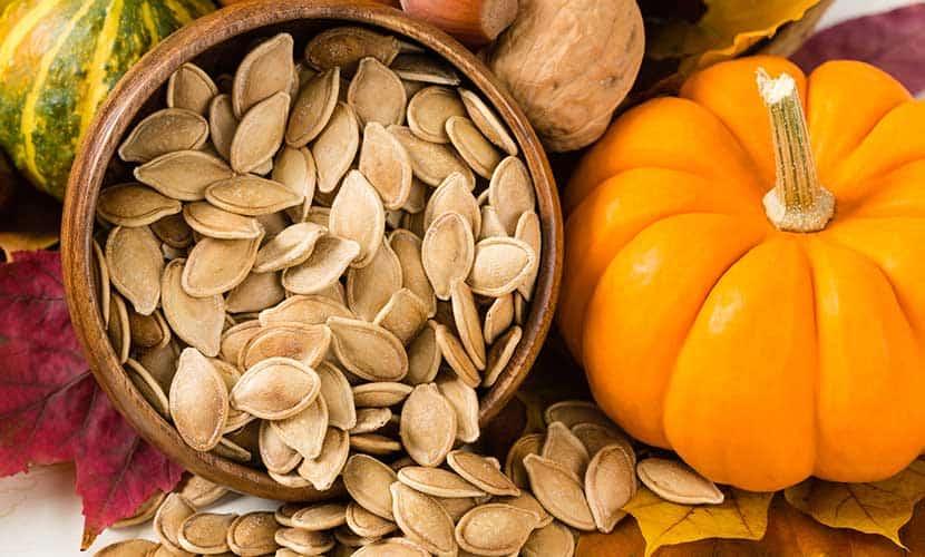 Las semillas de calabaza son ricas en magnesio