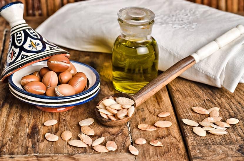 El aceite de argán se utiliza como agente antibacteriano y antiinflamatorio