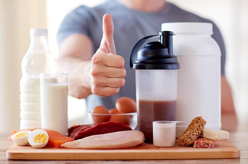 Una buena alimentación potencial el aumento muscular