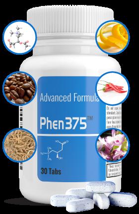 Phen375 es un suplemento en forma de pastillas compuesto por ingredientes naturales
