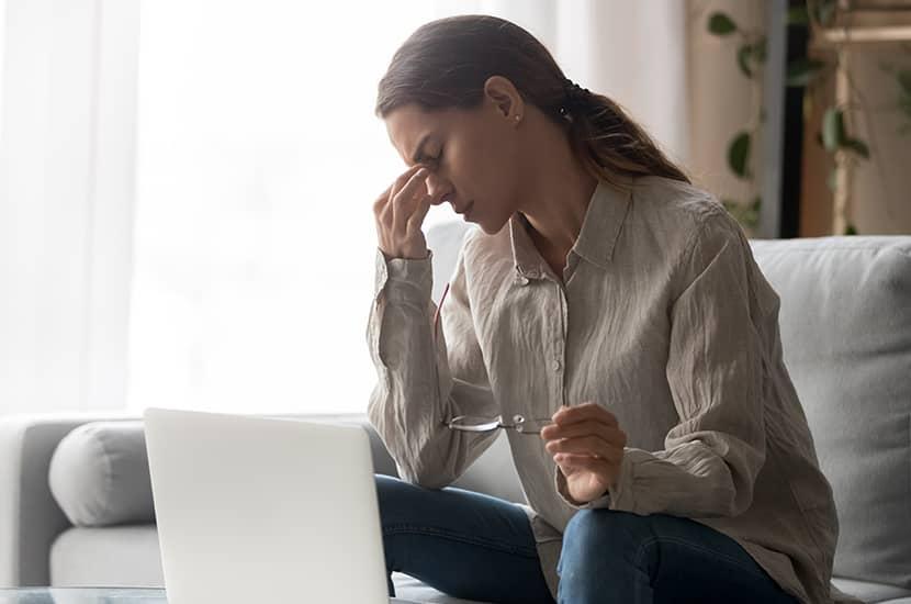 La astenopía se da principalmente por el uso intenso de los músculos oculares
